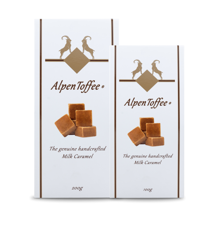 AlpenToffee Packaging all sizes